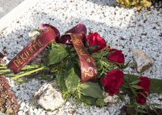 Položení kytice k hrobu Jana Smutného