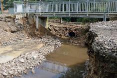 Zbořený most přes Brodecký potok